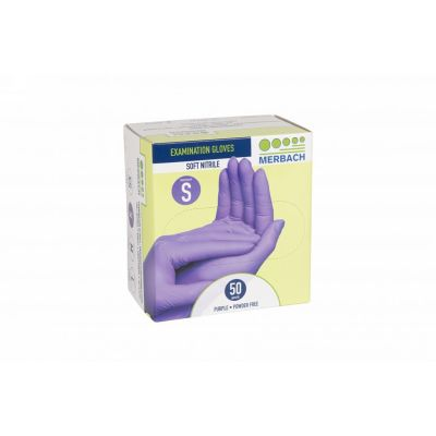 Glove Soft Nitril Purple Pouderfree Merbach