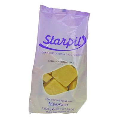 Starpil low meltingpoint wax - Natural - 1kg