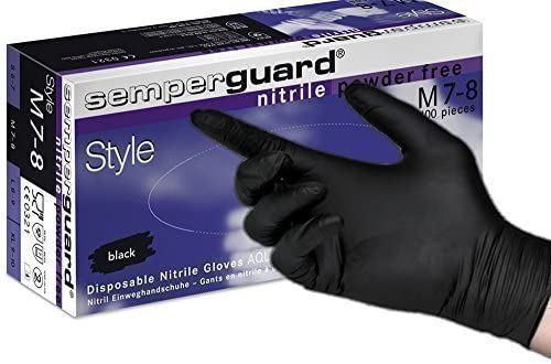 Medical glove Semperguard Style Nitril Black Powderfree Merbach